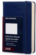 Moleskine 2016 Daily Planner Pocket Royal Blue (3.5 X 5.5)
