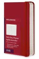 Moleskine 2016 Daily Planner Pocket Scarlet Red (3.5 X 5.5)